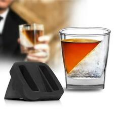2Pcs/Set Whiskey Wedge - Iced Whisky Glass Cup Mug With Silicone Ice Cube Mould