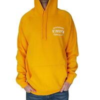 KINGPIN Skate Supply Hood Retro Gold Skateboard Hoody Pullover Hoodie