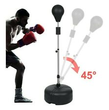 Boxing Punching Bag with Stand Reflex Speed Punching Adjustable Height
