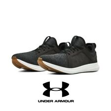 Men's Under Armour Black/White Lounge 19 Athletic Sneakers Running Shoes UA