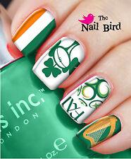 Nail art kits sets ebay nail art nail decals nail transfers wraps ireland rugby football irish clover prinsesfo Gallery