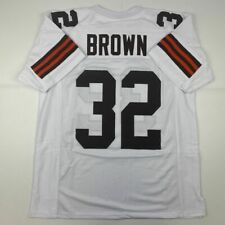 New JIM BROWN Cleveland White Custom Stitched Football Jersey Size Men's XL