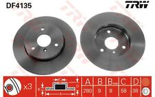 TRW Juego de 2 discos freno 280mm SMART FORTWO CITY-COUPE ROADSTER CABRIO DF4135