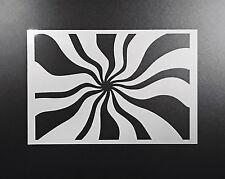 Spiral Pattern Stencil Airbrush Wall Art Craft Painting Home Decor DIY Reusable