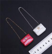 "1/6th Scale White Bag DIY Fashion Women Body Handbag For 12"" PH HT Female Figure"