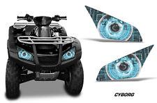 AMR Racing Head Light Eyes Honda Rincon 680 ATV Headlight Decals Part CYBORG BLU