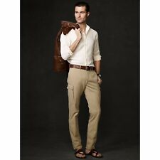 $450 Ralph Lauren Purple Label Mens Solid Cargo Slim Casual Dress Chino Pants