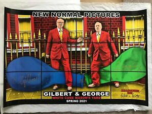 GILBERT AND GEORGE signed poster - New Normal Pictures