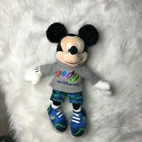 "2009 Disney Disneyland Mickey Mouse Gray Hoodie Sweatshirt 18"" Plush Doll"