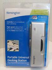 Kensington Portable Universal Docking Station,Ethernet  Model#33055, NEW!
