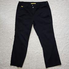 Lolë women's black pants size 10 stretch upf 50+ light weight wide leg