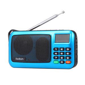 Radio FM digitale Ricevitore stereo Lettore MP3 HiFi Altoparlante portatile C8A6