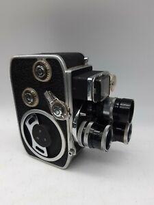 Vintage Bolex Paillard 8mm Movie Camera With Three Lenses And Grip