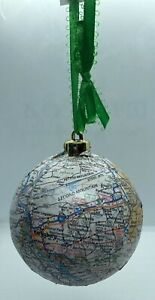 HANDMADE: STATE OF PENNSYLVANIA CHRISTMAS ORNAMENT WITH MAJOR CITIES AND MAP!