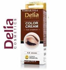 DELIA HENNA CREAM Eyebrow Professional Colour Tint Kit Set Brown 15ml