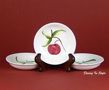 """Set of 3 (5 1/4"""") Dessert / Fruit Bowls, SUPERB! Stetson, Heritage Ware, Apple"""