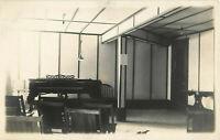 Postcard RPPC Piano Parlor