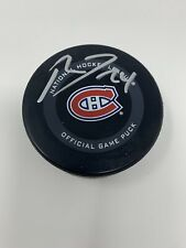 PHILLIP DANAULT Montreal Canadiens SIGNED Auto Official Game Hockey Puck COA