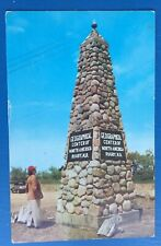 Rugby North Dakota Geographical Center Of North America Postcard, Monument