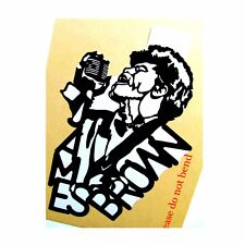 JAMES BROWN Original Pop Art,Music Celebrities 7 X 10 inches Portrait Sticker