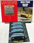 1974 1975 Maserati Khamsin Dealer Sales Brochure Set 3 Folders Road Test Reprint
