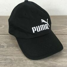 Puma Junior Cap Adjustable Curved Peak Sports Hat Black 100% COTTON R142-18