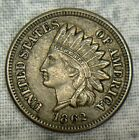 1862 Indian Head Cent Uncertified Civil War Date Coin