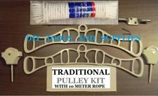 TRADITIONAL HANGING CLOTHES AIRER CAST IRON PULLEY ROPE KITCHEN LAUNDRY MAIDEN