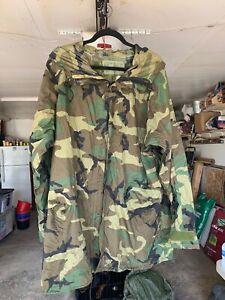 Military Grade Parka Rain Suit, Woodland Camo, Size, Medium