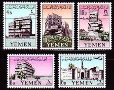 Yemen 1961 ** Mi.225/29 A Paläste Palaces Burgen Castle