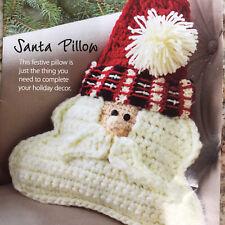 Annies Hook & Needle Kit Club Santa Pillow Crochet Holiday Christmas Crafts Yarn