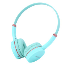 RockPapa Over Ear Wireless Bluetooth Headphones Headset Mic fr Kids Childs Green