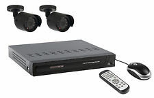 KIT VIDEO SURVEILLANCE SECURITE DVR 2 CAMERA + CABLES + DISQUE DUR 500Go