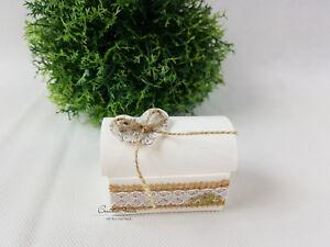 Geschenkverpackung Ringbox TRUHE VINTAGE Hochzeit