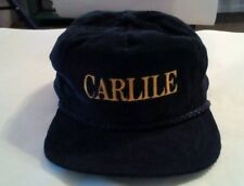 6bb63e0e278 Vtg CARLILE WY Trucker Cap Strapback Blue Corduroy Embroidered Rope Hat  Alaska