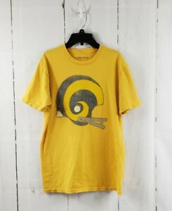 Junk Food Lucky Brand Los Angeles LA Rams T-shirt Yellow Small S