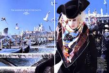 "1993 Hermes Carnaval de Venice Scarf ""shimmer of silk on the laguna"" MAGAZINE AD"