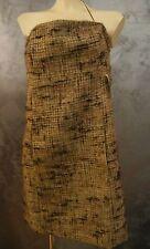abito vestito decollete' ragazza donna elegante  tg.46/L col.marrone fantasia
