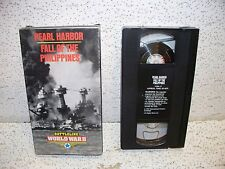 Pearl Harbor Fall of the Philippians VHS Video Tape Out of Print WWII