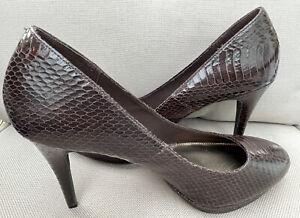 Christian Siriano Brown Snake Print Pumps Heels Size 12