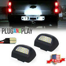 Full White Led License Plate Light Kit For Silverado Gmc Sierra 1500 2500 3500