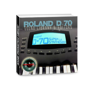 from ROLAND D-70 -Large Original Factory, New Created Sound Library & Editors