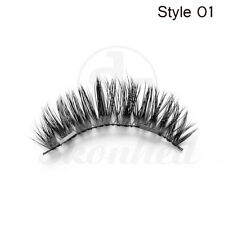 SKONHED 4PCS 100%  Handmade Hair Dual Magnetic False Eyelashes Thick Lashes