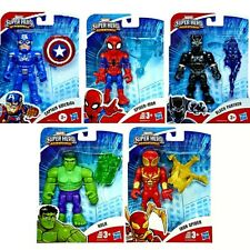 "Marvel Super Hero Adventures 5"" Action Figures Spider-Man, Capt America, Hulk +"