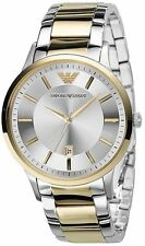 Emporio Armani Mens Two Tone Silver Gold Chronograph Watch AR2449