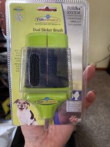 Furminator Attachment Dual Slicker Brush Grooming Small Dogs Brand New