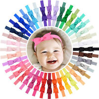 40pcs 3 Inch Grosgrain Ribbon Hair Bows Headbands for Baby Girls Infant Toddlers