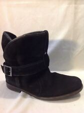 Buffalo Black Ankle Suede Boots Size 40
