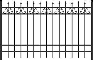 Schmuckzaun WOGR 01 - V1 (gerade) oder V2 (geschwungen)