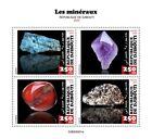 Djibouti Minerals Stamps 2020 MNH Cornelian Amethyst Apatite Calcite 4v M/S